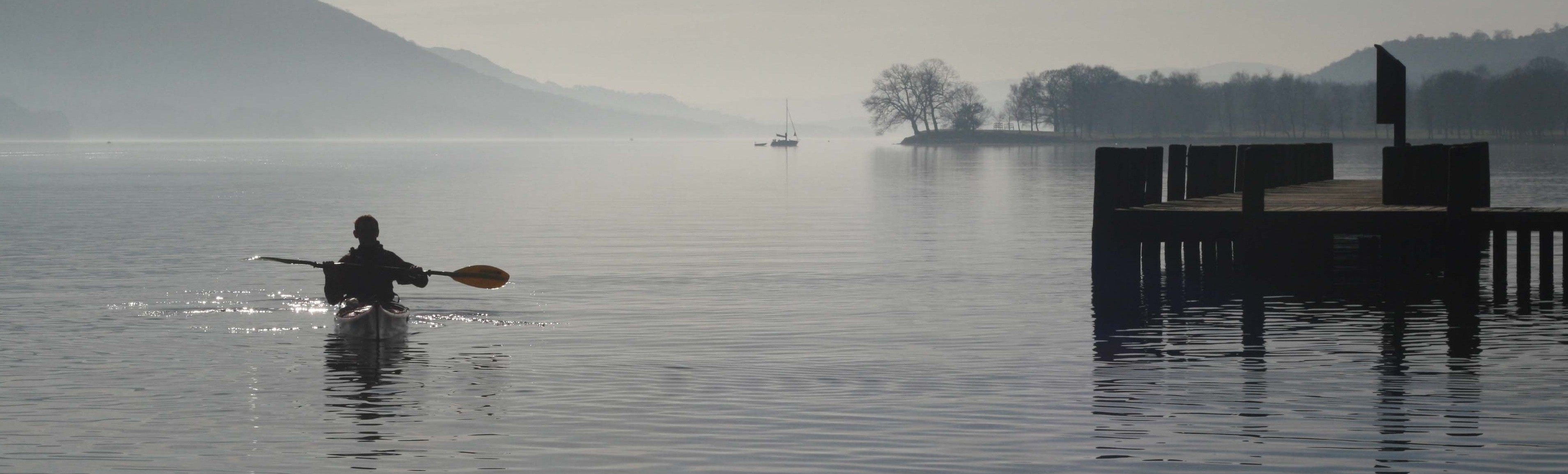 Paddling on Coniston Water